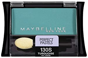 Maybelline New York Expert Wear Eyeshadow Singles, 130s Turquoise Glass Perfect Pastels, 0.09 Ounce