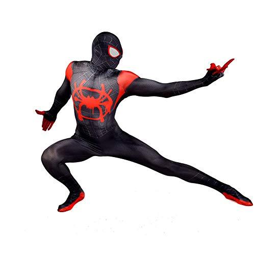 SHANGN Spandex Dress Up Schwarz Spiderman Kinder Adult Movie Cosplay Kostüm Halloween Theme Party Bodysuit,Adult-XXXL (Adult Kostüme Theme)