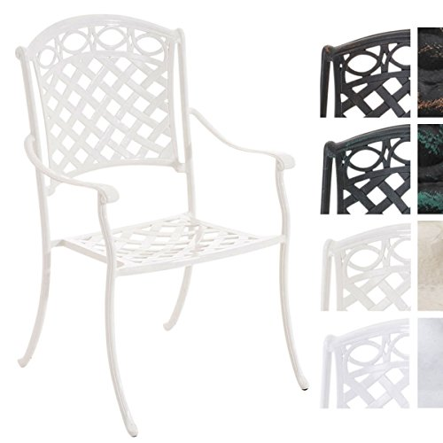 CLP Gartenstuhl ISHVARA im Jugendstil/Antiker Stuhl aus Aluminium erhältlich Creme