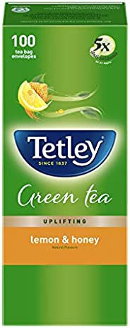 Tetley Green Tea Bags - Lemon & Honey, 100 Pi