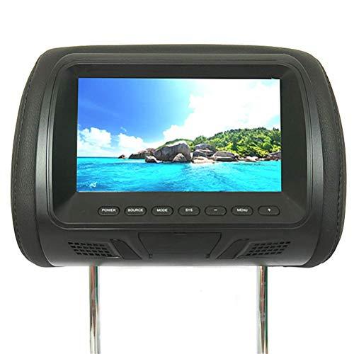 oll-Kopfstütze-Auto-DVD-AV-Player überwacht FM-Transmitter HD-Autoanzeige,Black ()