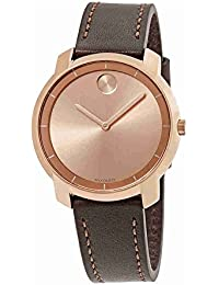 Movado Women's Bold 36mm Leather Band Steel Case Swiss Quartz Watch 3600475