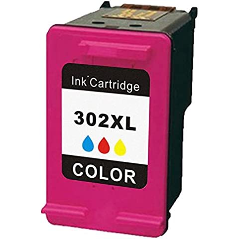 INMAX Sostituzione Remanufactured Cartucce D'inchiostro per HP 302XL High Yield Per HP Officejet 3830 3832 3833 3834 4650 4651 4652 4654 DeskJet 1110 2130 2132 2134 3630 3632 3633 3634 Envy 4520 4522 4523 4524 (1 Tri-Colore F6U67AE)