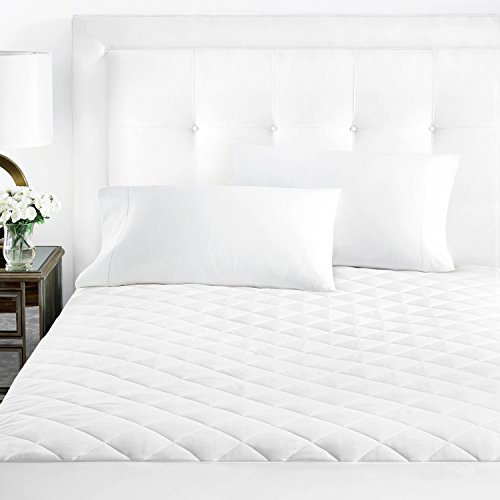 Sleep Restoration Matratzenauflage aus Mikrofaser, gesteppt, luxuriös Full weiß - Full Loft Twin