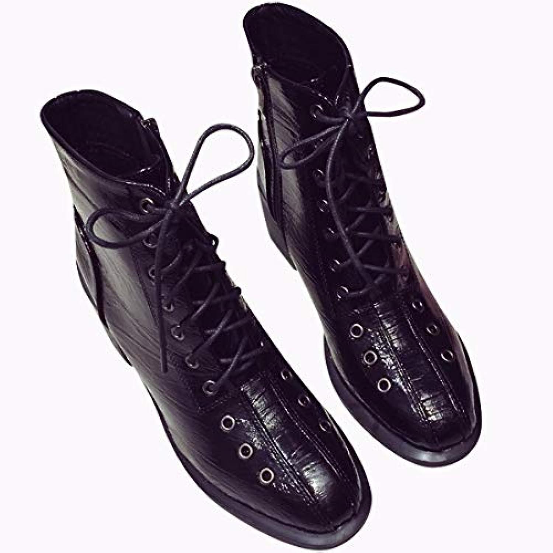 KPHY Chaussures Femmes/l'hiver Les Les Femmes/l'hiver Bottes La Mode Haute 6 Cm Sauvage Vernis Tête Au Carré Le Frenulum Dur Au Pied... - B07KGBRFWG - 3ee414