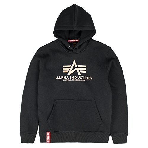 Alpha Industries Herren Hoodie Black/Gold