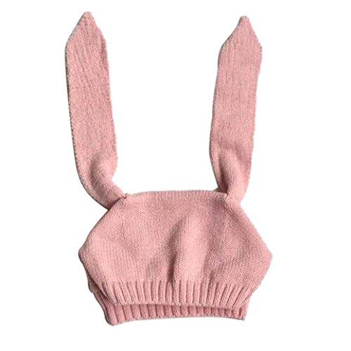 Babybekleidung Hüte & Mützen Longra Baby Kinder Mädchen Jungen gestrickt häkeln Kaninchen Ohr Beanie Warm Winter Hüte Mütze (8 Monate-2Jahre) (Cartoon Schnelle Kostüme)
