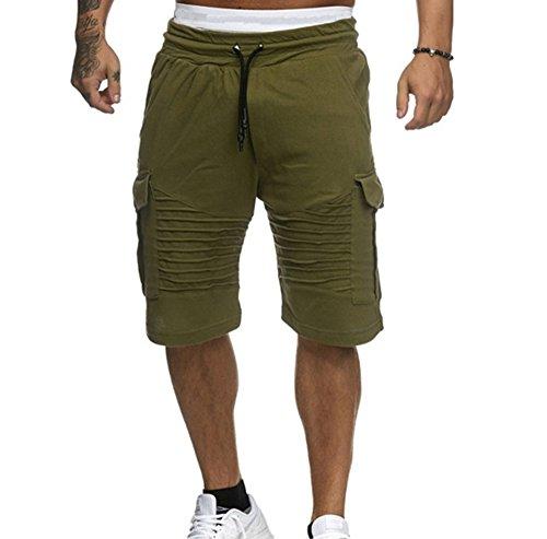 Männer Sport Strand Streifen Shorts Baumwolle Jogginghose Fitness Solide Jogger Kurze Hose Casual Gym Männer Kurze Hosen (Solide Baumwoll-baseball-jersey)