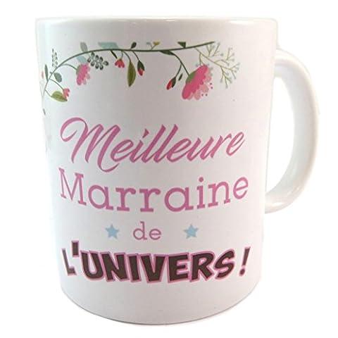 """Les Trésors De Lily [P2190] - Mug céramique """"Meilleure Marraine de l"""