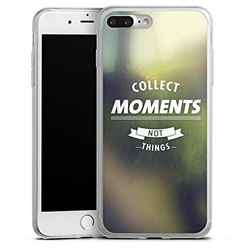 Apple iPhone 8 Slim Case Silikon Hülle Schutzhülle Moment Sprüche Motivation Silikon Slim Case transparent