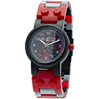 LEGO Star Wars 8020332 Darth Maul Kids Buildable Watch with Link Bracelet and Minifigure | black/red | plastic | 28mm case diameter| analogue quartz | boy girl | official