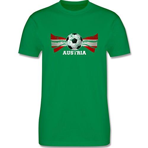EM 2016 - Frankreich - Austria Fußball Vintage - Herren Premium T-Shirt Grün