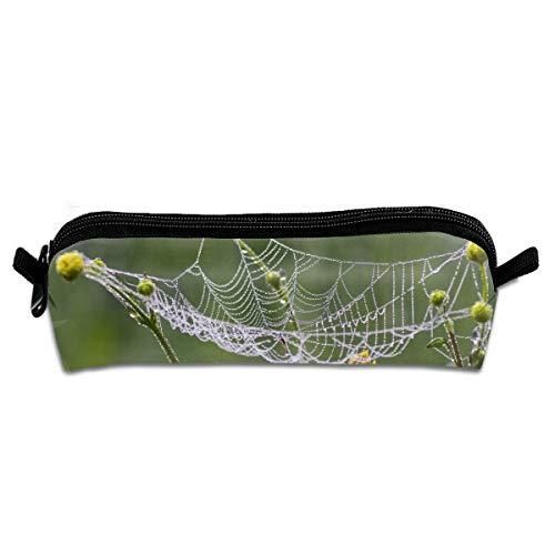 Pengyong Spider Webs Federmäppchen für Studenten, mit Reißverschluss, kleine Kosmetiktasche, Make-up-Tasche für Münzen, für Kinder, Jugendliche und andere Schulutensilien