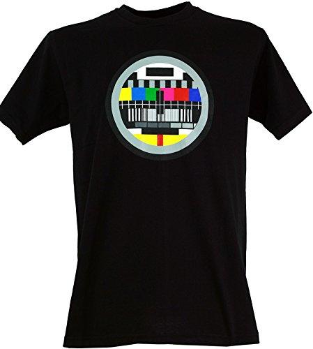 Guru-Shop Fun T Shirt `Testbild`, Herren, Baumwolle, Rundhals Kurzarm Shirt Alternative Bekleidung Schwarz