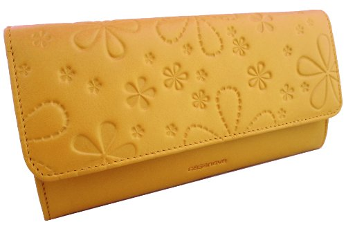 KissMe Collection by Casanova - Fatto a mano da artigiani in Spagna - Vera Pelle di alta qualità - Portafoglio donna (Passion Red) Spicy Mustard
