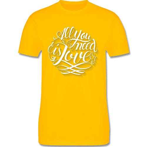 Statement Shirts - All you need is love Lettering - Herren Premium T-Shirt Gelb