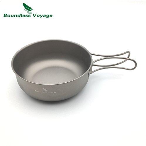 Outdoor Ultralight 80.3g Titanium Bowl Cookware Picnic Camping Bowl(650ml)