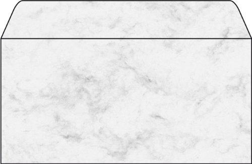 Sigel DP073 Briefumschläge, Marmor grau, gummiert, DIN lang, 50 Stück - weitere Farben