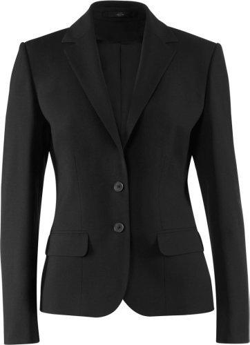 GREIFF Damen-Blazer Anzug-Jacke PREMIUM comfort fit - Style 1441 - schwarz - Größe: 38 - Damen Wolle Anzug