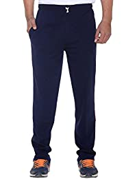 ELK Mens's Blue Cotton Track Pant Trouser With Side Pockets Clothing Set