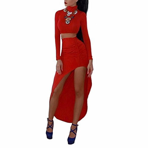 Qiyun 3008s0672–Robe pour femme Rouge