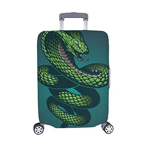 Schlange EIN wildes Tier der Schlange Kobra Muster Spandex Trolley Reisegepäck Beschützer Koffer Cover 28,5 X 20,5 ()