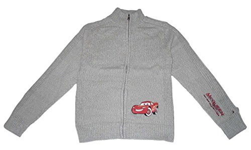 BOYS CARDIGAN LONG SLEEVED TOP DISNEY CARS (3-4 YEARS OLD 4A, GREY)