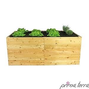 prima terra hochbeet bausatz l rchenholz larix ma e. Black Bedroom Furniture Sets. Home Design Ideas