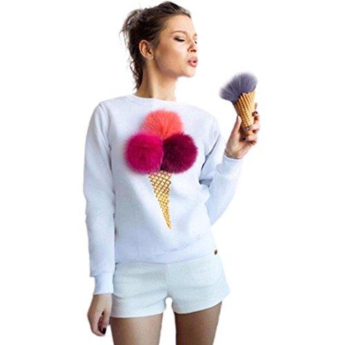 donne felpa pullover, FEITONG Misaki camicia camicetta