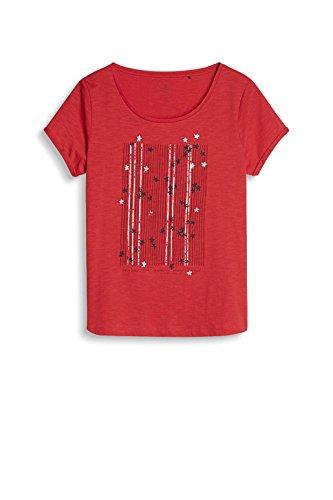 edc by Esprit 037cc1k025, T-Shirt Femme Rouge (Red)