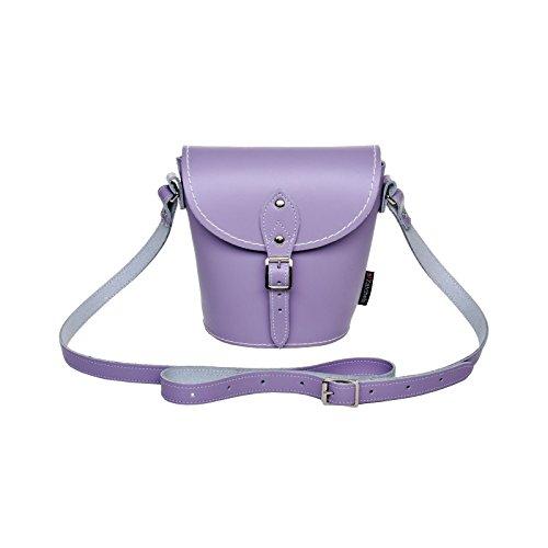 Zatchels Damen Pastell Leder-Handtasche, handgefertigt in Großbritannien Narzissengelb