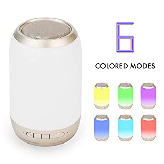 Touch Control Table Lamp with Bluetooth Speaker - Led Smart Touch Lamp with LED Bluetooth Speaker Smart Touch Control Night Light with Bluetooth Speaker LED Light Bedside Lamp Reading Lamp Warm White