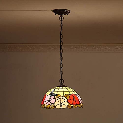 W-LI Pendelleuchte Höhenverstellbar Vintage Esstisch Küche Lampen Hängelampe Esszimmer Flur Lampe Retro Dekorative Lampe Kronleuchter E27 Glas Schlafzimmer Untergeschoss Loft Cafe Bar -