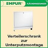 Buderus / Empur Unterputz Verteilerschrank Exclusiv für Fußbodenheizung Breite 520 - 1120 mm, Breite / Nischenbreite:720 x 740 mm
