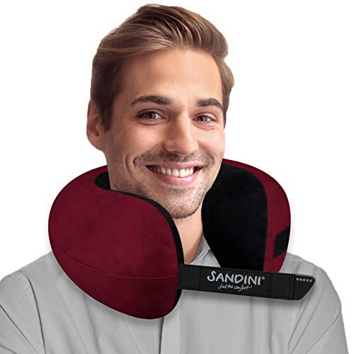 SANDINI TravelFix Regular Size – Premium Reisekissen mit Verschluss/Nackenkissen mit ergonomischer...