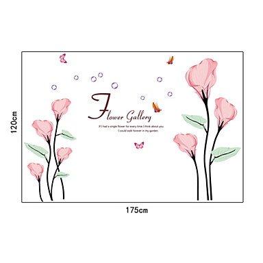 piteng- Rose romantique callalily Commun PVC Stickers