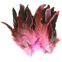 kelaina aprox. 50pcs DIY costura Craft Decoración gallo plumas accesorios, rosa, 10-20cm
