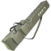 Lixada Bolsas de Pesca 100 cm/130 cm/150 cm Pesca Bolsa portátil Plegable Rod Reel Bag, Due strati, 130cm