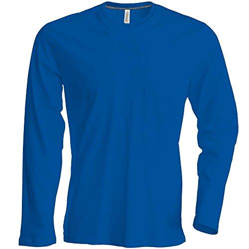 Herren T-Shirt Langarm Rundhals Shirt, leicht körperbetont, in 20 Farben und den Größen S, M, L, XL, 2XL, 3XL u. 4 XL von noTrash2003 Light Royal Blue
