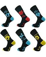 3x Pairs of Mens Official Licensed Mr Men Socks / UK 6-11 Eur 39-45