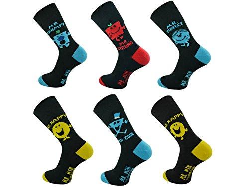 Mens-Official-Mr-Men-Licensed-Character-Socks-UK-6-11-Eur-39-45-3-Pair-Pack