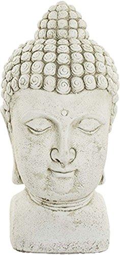 Deco Granit Statue tête de bouddha en pierre reconstituée