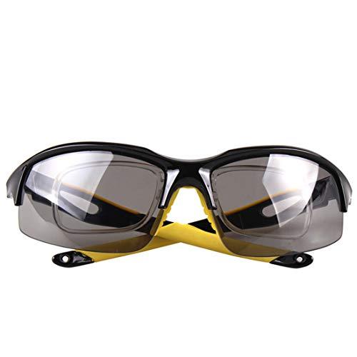 Retro Vintage Sonnenbrille, für Frauen und Männer Schwarz und Gelb Einfache Coole polarisierte Linse Unisex-Sport-Sonnenbrille Radfahren Baseball Laufen Angeln Golf Klettern UV-Schutz (Farbe : Gelb)