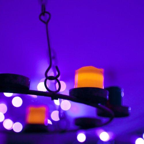 6er Set Halloween LED Mini Kerzen orange schwarz Lights4fun - 6