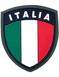 ALGI Scudetto Italia Verde con Velcro in Gomma