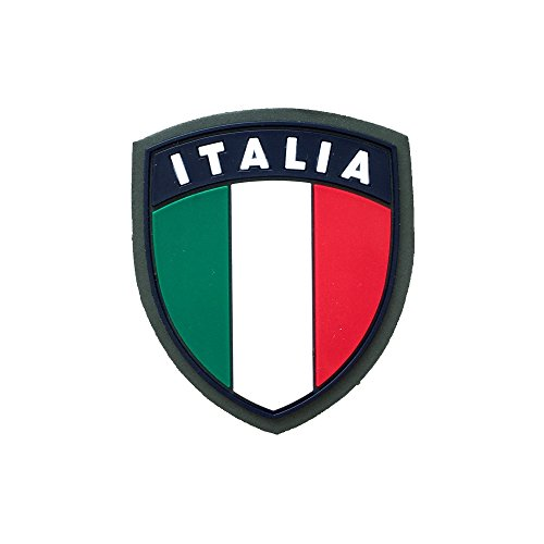 Écusson Italie en caoutchouc, vert, avec velcro