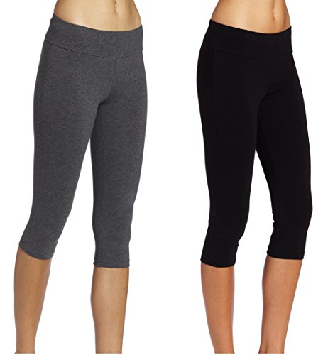 Large, Pack of 2Black+Gray - ABUSA Women's Running
