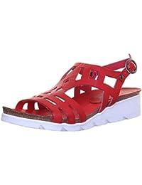 Dragon868 Donna Scarpe Eleganti Ragazza Moda Comoda Tacchi Alto 7.5cm Scarpe Donna Tacco Largo Chiuse (37, Rosso)