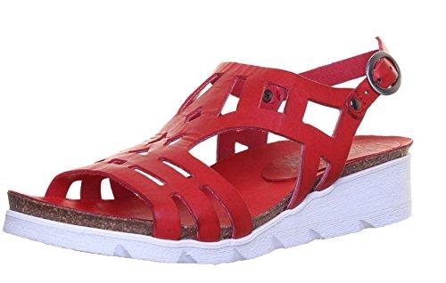 Boucle en Sandal faible 8986pour talon Red femme Felmini compensé Laser cuir Cut LP2 0wv4q0x