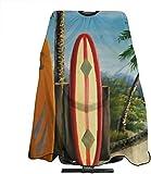 Welc my King Carino Coco Beach Tavole da Surf Taglio di Capelli Cape Cloth Designer Barbiere Avvolgimento Taglio di Capelli Grembiule per Profion Barbershop